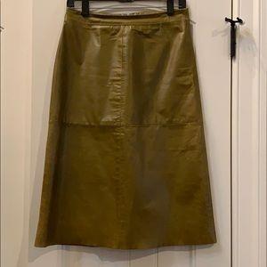 GAP Vintage Genuine Leather Midi Pencil Skirt 6